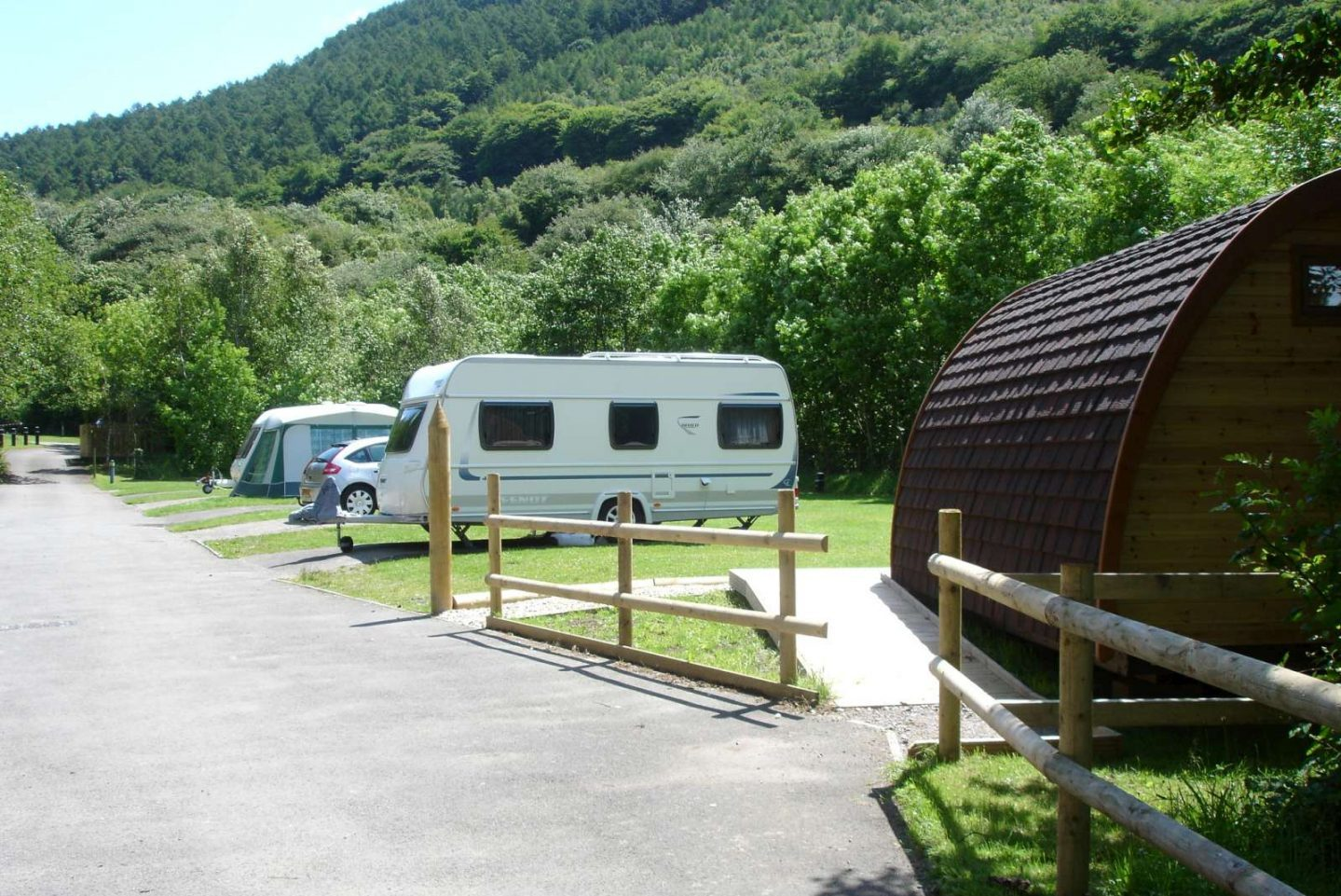 Motorhome pitches at Cwmcarn Forest