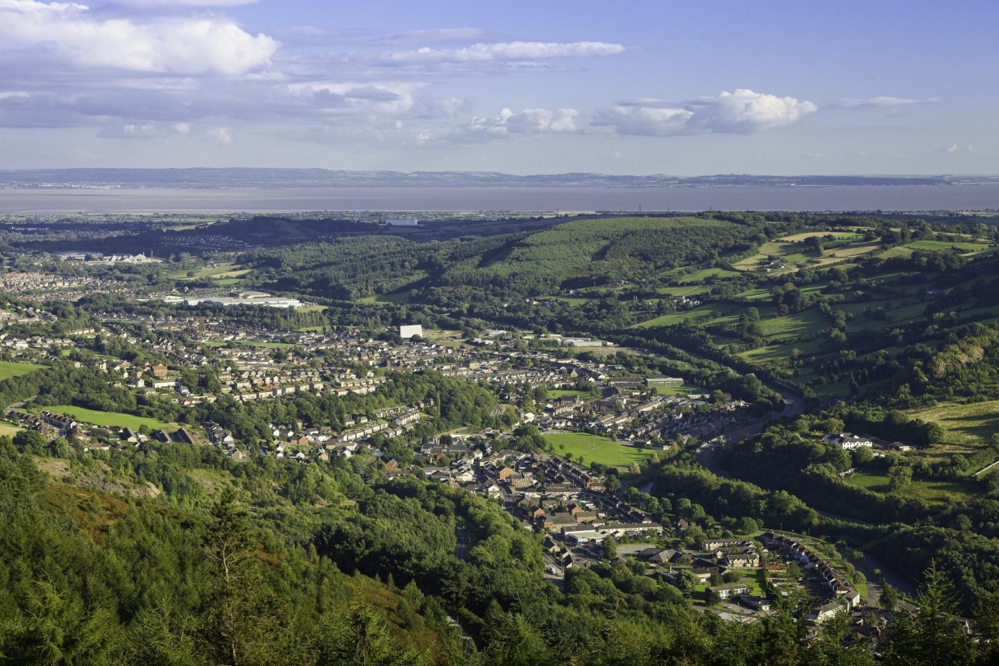View os Risca from Cwmcarn