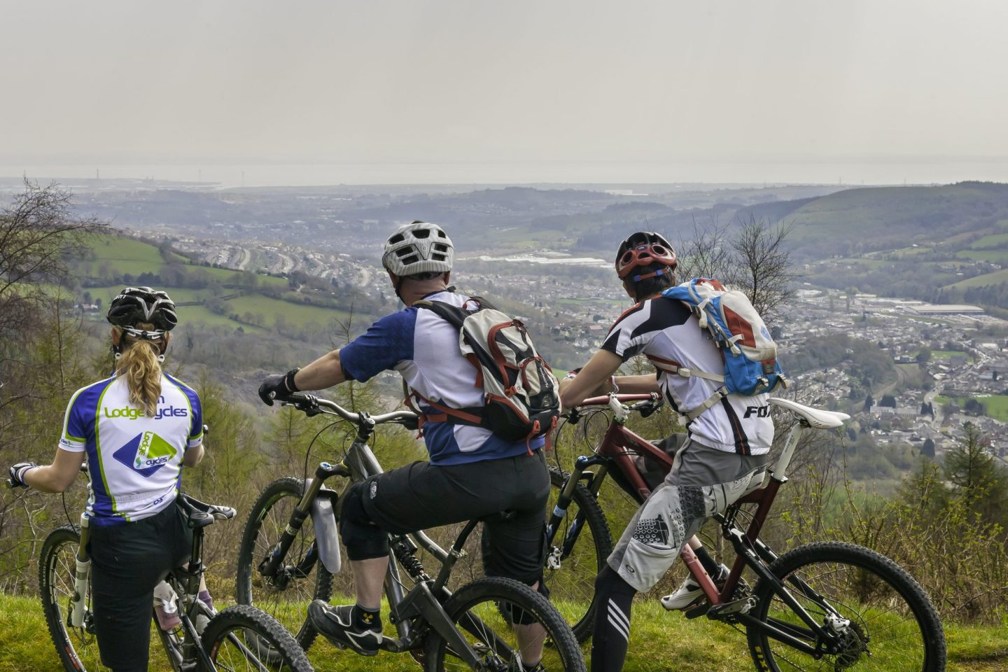 Mountain bikers at Cwmcarn