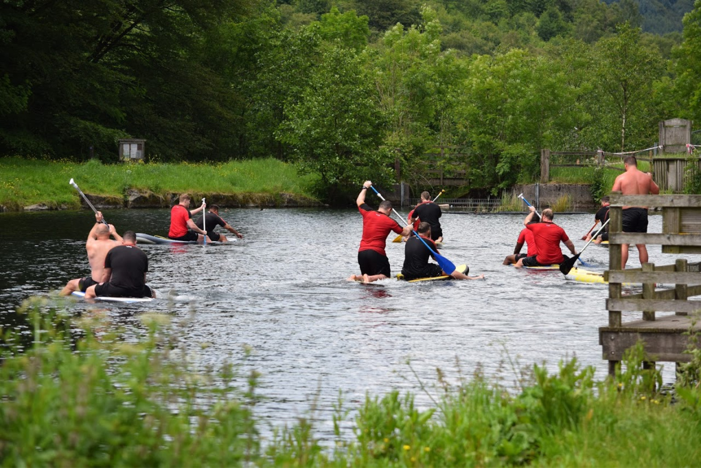 Cwmbran lake canoeing
