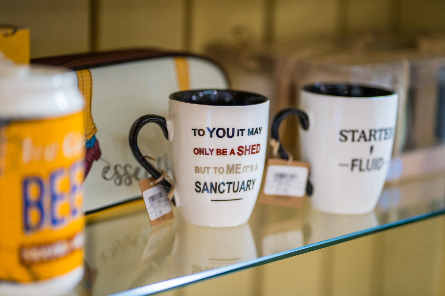 Cwmcarn Forest Gift shop mugs