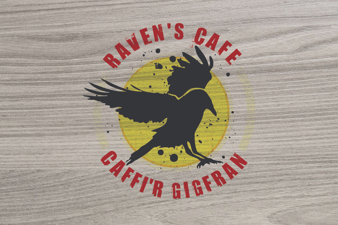 Cwmcarn forest Raven's Cafe logo